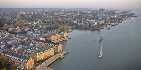 Aerial View of Old Town from the Potomac River